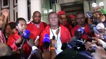 Malema hits back after EFF was physically removed from Parliamentduring the #SONA 2015 (HD)