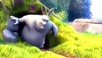 Cartoon Funny Videos - Big Buck Bunny With Three Nosy Squirrel - Very Funny Cartoons