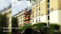 Les images amateur de l'incendie à Levallois-Perret