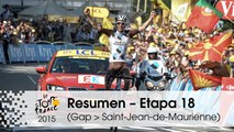 Resumen - Etapa 18 (Gap > Saint-Jean-de-Maurienne) - Tour de France 2015