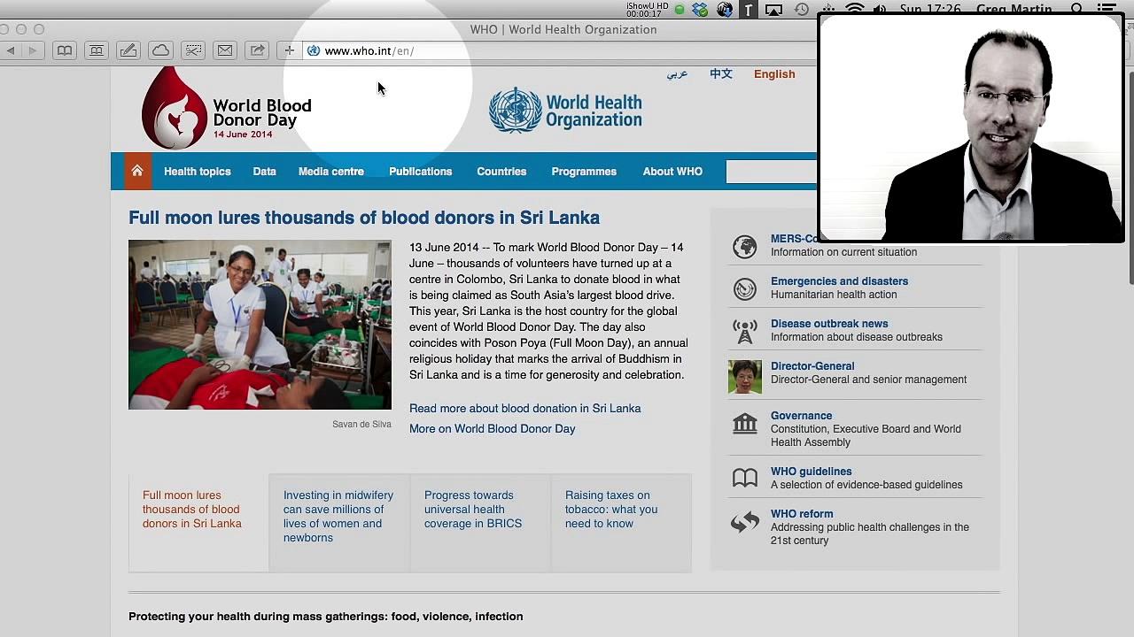 World Health Organization data – using a pivot table to make sense of it