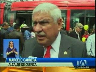 Trabajos del tranvía de Cuenca avanzan según planificación