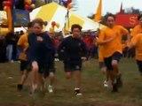 Wide Awake Child running the Race