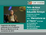 """FÉLIX DE AZUA y """"Barcelona es el Titanic"""": reflexión 31 años después"""