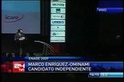 El incidente de Marco-Enríquez Ominami en el debate de Enade