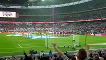 Scotland fans unite and Boo God Save Queen at Wembley