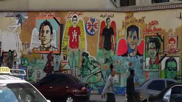 Revolutionary Street in Cairo Mohamed Mahmoud Street Art Political Graffiti