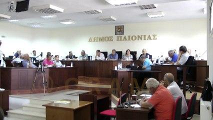 Δημοτικό Συμβούλιο Δήμου Παιονίας 21-07-2015
