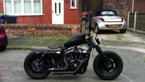 Harley custom bobber fresh from C..W fabrications (is that a custom harley?)