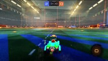 Rocket League acrobatic rocket powered goal