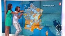 Alex Jaffray s'invite sur la météo de Tania Young - 2015/07/24
