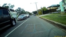 Mobility scooter going wrong way down Kedron Brook Road, 2015-06-25, 7:35 am