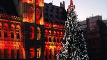 Bruxelles Grand place Noël 2014 Spectacle sons et lumières