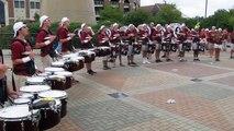 FSU Big 8 Drumline at College Game Day - Clemson vs FSU