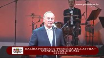 """Valsts prezidents sveic vecāko projekta """"Pieslēdzies, Latvija!"""" dalībnieci 06/11/2013"""