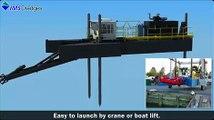 Dredging 8010 HP Swinging Ladder Dredge - IMS Dredges- Dredge Animation - Dredger Projects