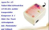 Agora Tec AT Nailart Mini Airbrush Kompressor Komplett