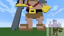 Clash Of Clans Pixel Art! BARBARIAN KING Minecraft Building Characters Art lol clans dota 2