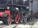 FS Gr640.143 e Gr940.041 con treno storico a vapore ad Asti.