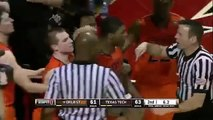 Marcus Smart (Oklahoma State Guard) Pushes/Shoves A Tech Fan, must see!