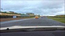 Nissan R35 GT-R in car footage Knockhill trackday wet weather Video 1