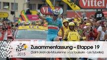 Zusammenfassung - Etappe 19 (Saint-Jean-de-Maurienne > La Toussuire - Les Sybelles) - Tour de France 2015