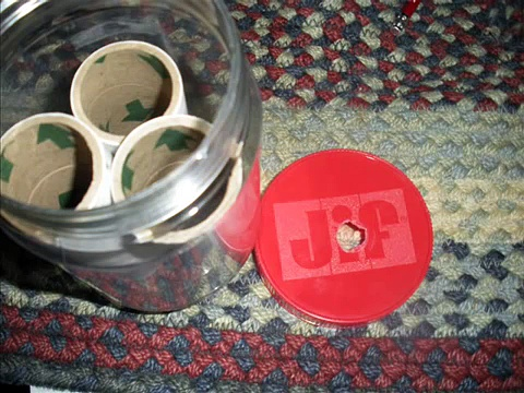 Homemade treat dispensing dog toy!