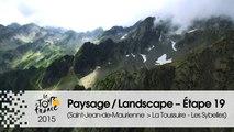 Paysage du jour / Landscape of the day - Étape 19 (Saint-Jean-de-Maurienne > La Toussuire - Les Sybelles) - Tour de France 2015