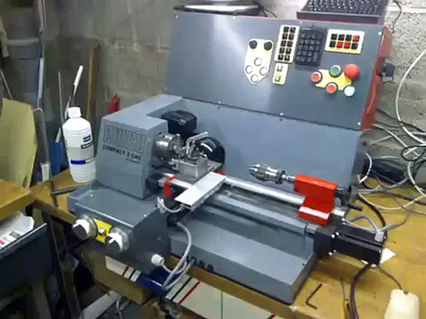 EMCO COMPACT5 cnc lathe monster retrofit mach3 first time running !