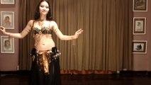 Ho Lan biểu diễn belly dance - drum solo - múa bụng Viet Nam Sai Gon, Rannet al tabla