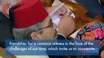 Pope Benedict XVI visits Rome Synagogue