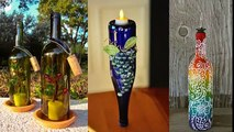 Picture Collection Of Home Decor Ideas With Diy Glass Bottle Art | Painted Diy  Bottle Collection