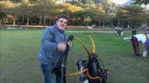 Voo de Paramotor no Cristo Redentor   Flying Paramotor Christ the Redeemer   Rio de Janeiro   Brasil