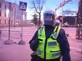 defend of bronze soldier (Tallin - Estonia) russians fight with police