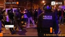 Noche de disturbios en Barcelona entre gitanos y senegaleses