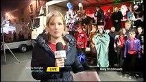 ITV Anglia News Bury St Edmunds Christmas Lights Switch on