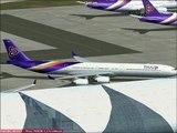 Bangkok-Chiang Mai with A340-600 Thai Airways