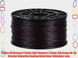 NuNus 3D Drucker/Printer ABS Filament 1.75mm 1KG braun f?r 3D Drucker MakerBot RepRap MakerGear