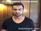 Shoaib Malik New DUBSMASH video with Amir Khan Boxer, Faryal Makhdoom  'Bajrangi Bhaijaan' Dialogue
