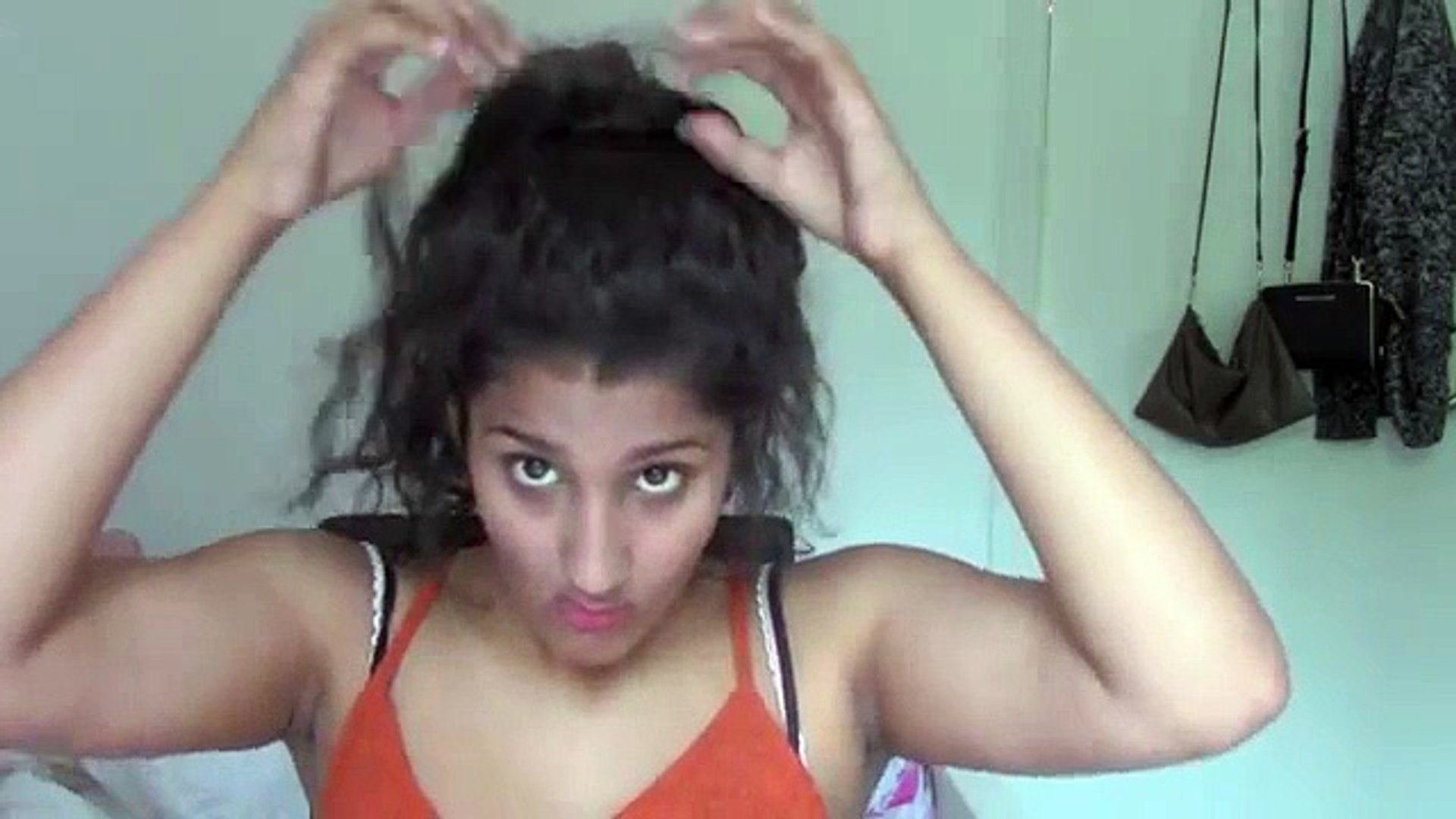 4 Quick And Easy Hairstyles For Curly Hair Video Dailymotion