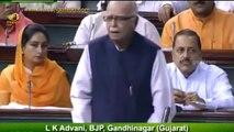 LK Advani praises MP Kavitha for speech on plight of Kashmiri Pandits