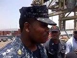 Jamaican US Navy members Fly Jamaica's Flag High