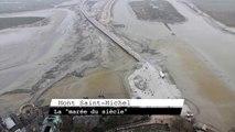 """Time-lapse de la """"Marée du siècle"""" au Mont Saint-Michel"""