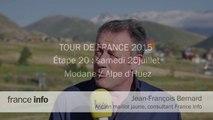 Thibaut Pinot, vainqueur à L'Alpe d'Huez.  Jean-François Bernard