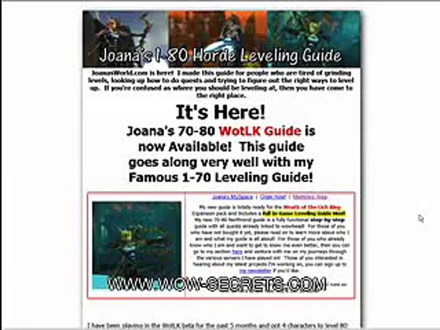 Joana's Leveling Guide Video Review