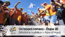 Caméra embarquée / On board camera - Stage 20 (Modane Valfréjus / Alpe d'Huez) - Tour de France 2015