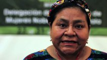 Nobel Peace Prize Winner Rigoberta Menchu Greets the Nobel Women's Initiative 2012