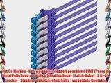 05m - CAT6a - Netzwerkkabel SET | violett - 10 St?ck | CAT 6a | S-FTP | doppelt geschirmt -