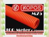 100m M25 Kopos 25mm Kabelschutzrohr Elektrorohr Installationsrohr Wellrohr flexibel orange