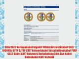 30m CAT.7 Verlegekabel Gigabit 10Gbit Netzwerkkabel CAT.7 1000Mhz SFTP S/FTP CAT7 Netwerkkabel